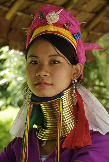 Padaung Long Neck Women can be seen walking throughout parts of the country while you teach in Myanmar