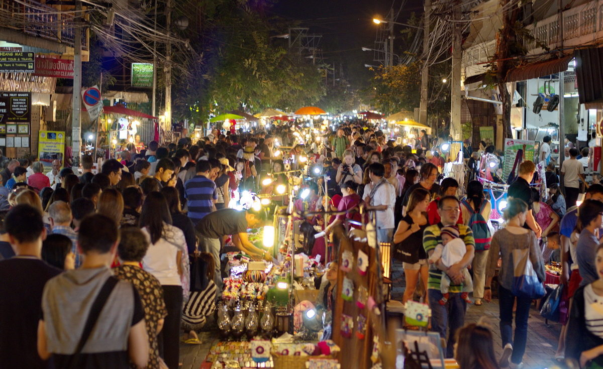 visit your nearby night market and enjoy the food and and shopping all around