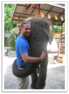 Part of living in Thailand is making friends with elephants!
