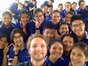 Some of my high school students in Thailand. XploreAsia Teaching English in Thailand blog.