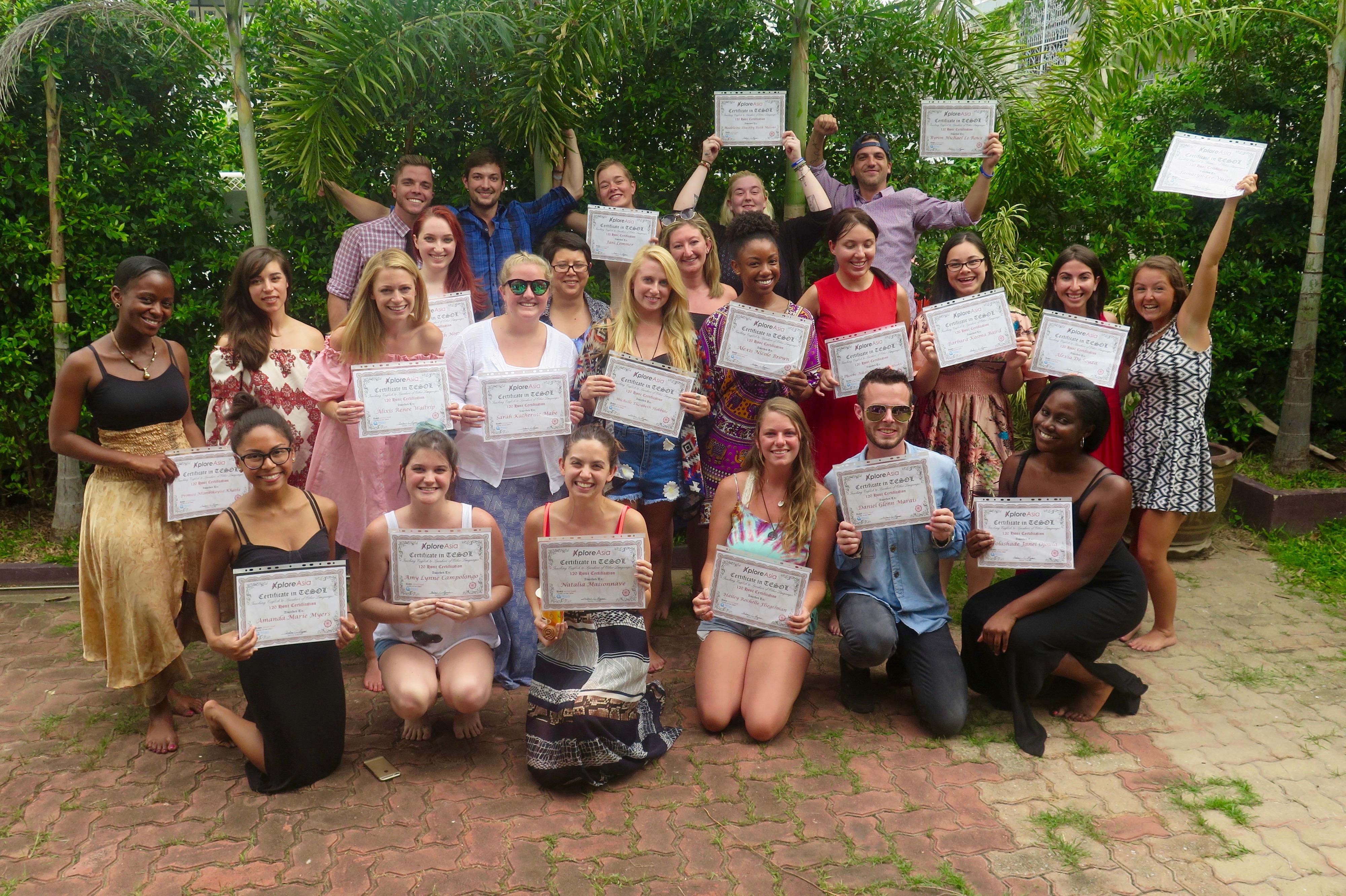 July 2016 TESOL graduates, certificate in hand!
