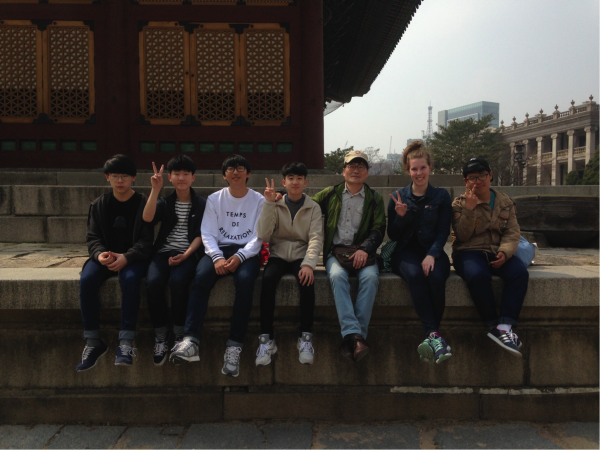 Eoram Middle School Grade 3 Field Trip to City Hall and Deoksugung Palace, Seoul.