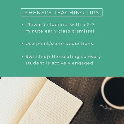 Khensi's Teaching Tips