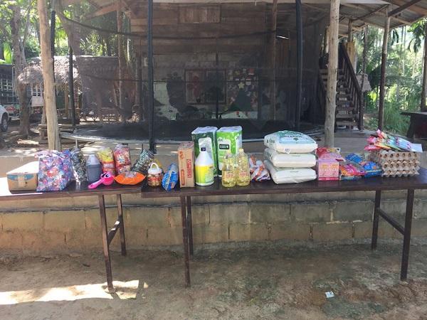 Supplies Pala-U Orphanage