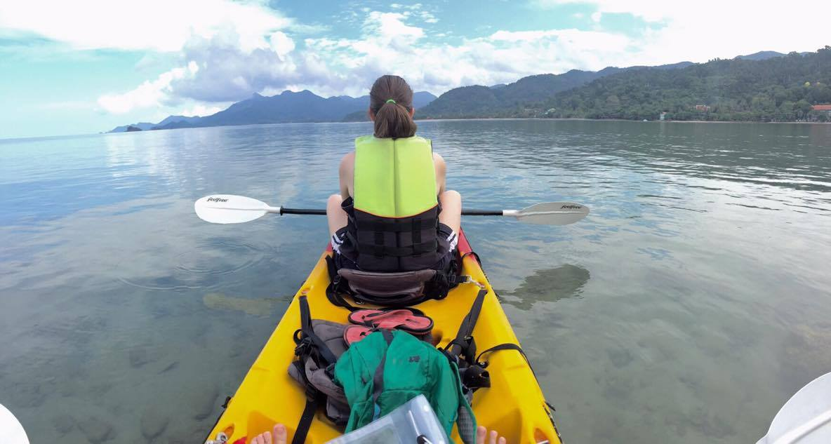Jessica Melton kayaking Thailand