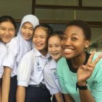 Khensi and her students