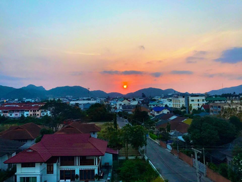 sunset in Hua Hin