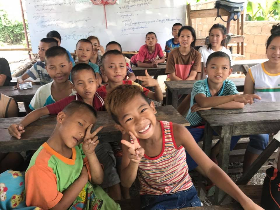 Teach English Abroad: kids at the orphanage ready to learn!