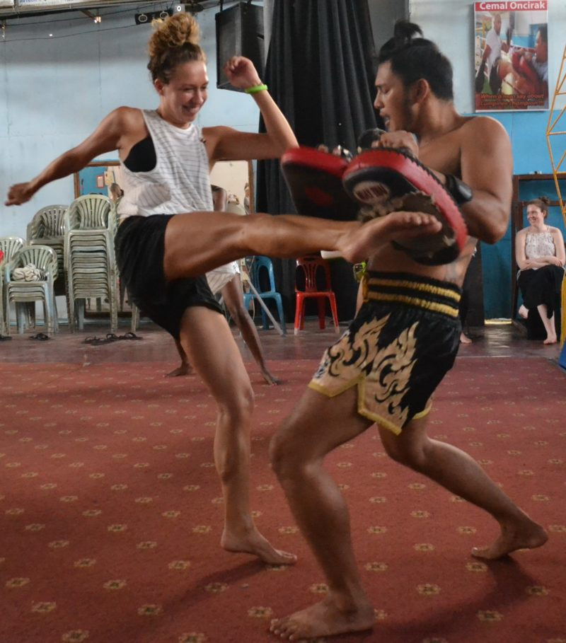 Muay Thai classes are also held during orientation week at XploreAsia.