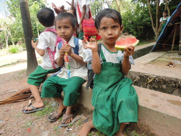 While you teach in Myanmar, you will see a Thanaka paste used from small children to elders