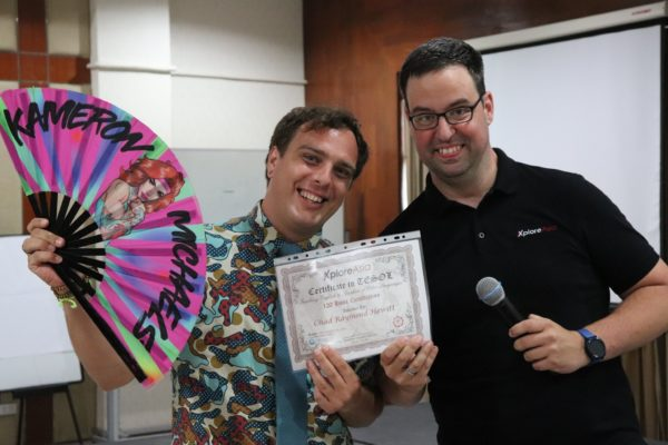 Chad graduating from our Hua Hin TESOL program and becoming a fully-fledged teacher in Thailand.