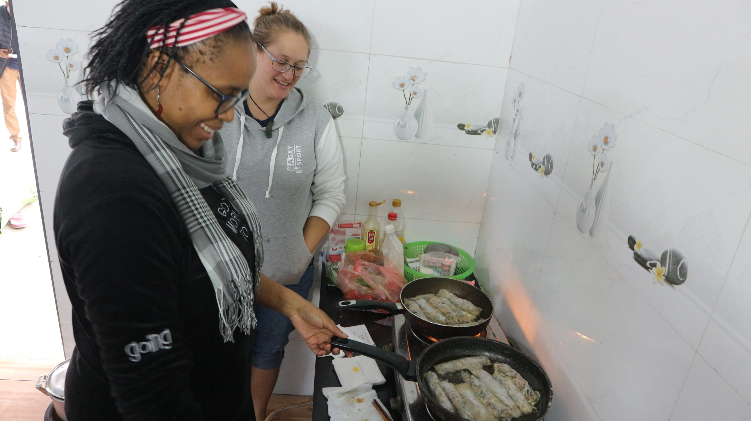 Our TESOL in Vietnam students also got a chance to take a Vietnamese cooking lesson previously during their orientation week.