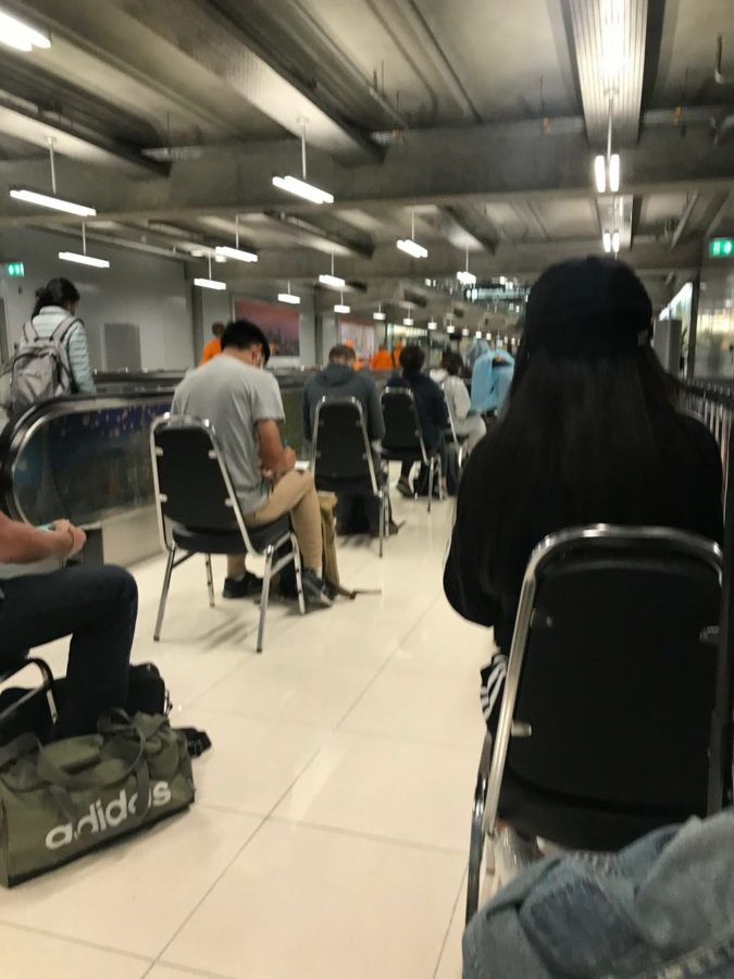 Lucy Frobisher's Quarantine in Thailand Experience - Waiting for Testing at the Airport