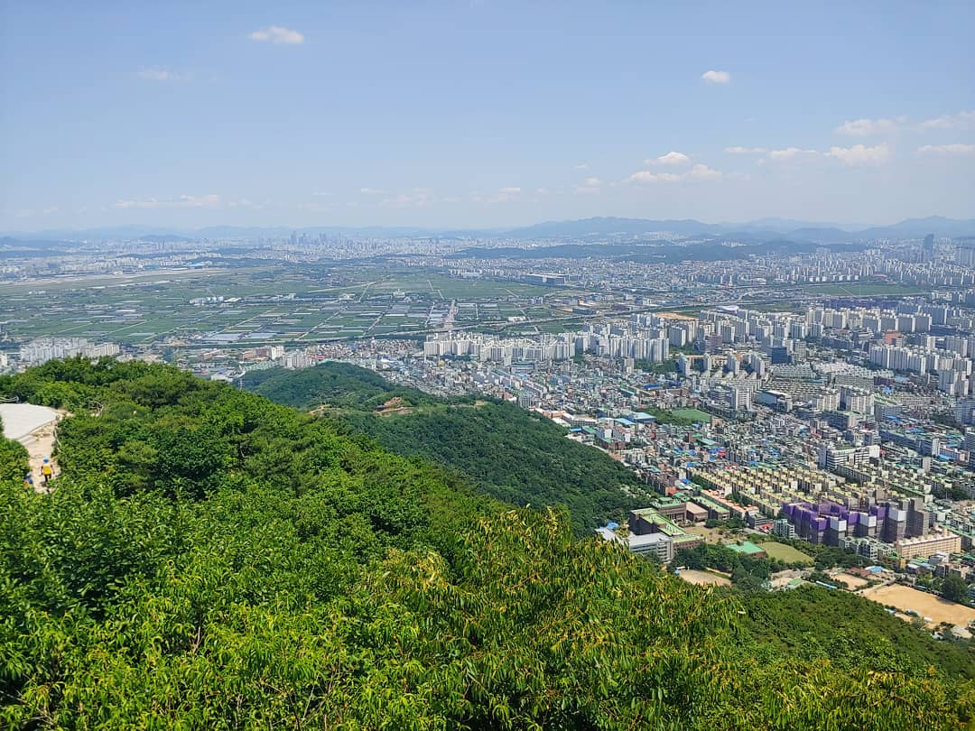 The view from hiking on Gyeyang mountain in nearby Incheon