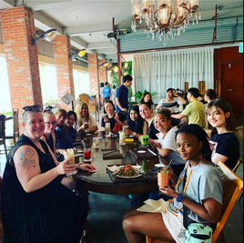 A picture of a meetup I found on social media for foreign coffee lovers. Social media is a great place to discover other foreigners living near you!